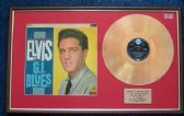 Elvis Presley - 24 Carat Gold Disc and Cover - G.i. Blues